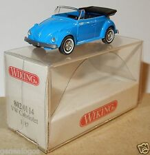 MICRO WIKING HO 1/87 VW VOLKSWAGEN KÄFER COX 1300 BEETLE CABRIOLET bleu in box