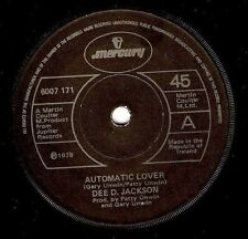 "DEE D. JACKSON Automatic Lover 7"" Single Vinyl Record 45rpm Irish Mercury 1978"