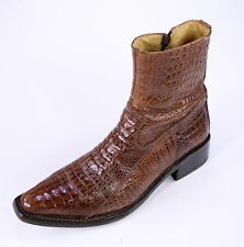 * BUFFALO * Brown Crocodile-Alligator Ankle Boots Men's Eu 42 US 9 EE