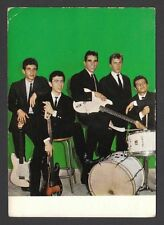 Les Chats Sauvages Vintage 1960s Pop Rock n Roll Music French Postcard