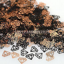 Fashion Brone Black Diamond Shape Metal Nail Art Sequins Decals Phone Stickers