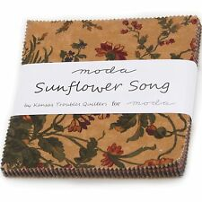 Sunflower Song Charm Pack by Kansas Troubles Quilters for Moda Fabrics