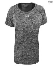 NWT Womens Under Armour L Black/Gray Twisted Tech Locker Shirt Large