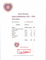 HARRY KINNEAR HEART OF MIDLOTHIAN 1971-1974 ORIGINAL HAND SIGNED CUTTING/CARD
