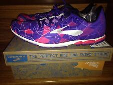 NEW Brooks Womens Mach 16 Purple Track Spike Running Shoes Size 9