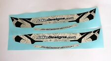 JakeDesigns HELMET VISOR STICKERS/STRIPS in Black & Chrome Silver KARTING