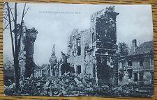 WWI FACTORY DESTROYED BOMB /  ARTILLERY, SCHAAR & DATHE GERMAN POSTCARD, ? SITE