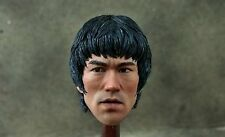 1/6 Bruce Lee Head sculpt IP Man 3 Jet Li Muscle Body Enterbay Shoe Jeans Pants