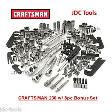 Craftsman 230 pc Tool Set with 8 pc bonus set - Tools Only     NEW  311