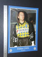 RARE FABIEN COOL AJ AUXERRE AJA ABBE-DESCHAMPS FOOTBALL CPA FRANCE 1996-1997