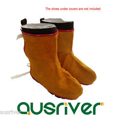 Durable Leather Welding Protective Shoes Feet Cover Welder Inflaming Retarding