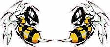 """Ski Doo-Killer Bees Large Decal Pair is 6"""" x 5"""" each in size"""