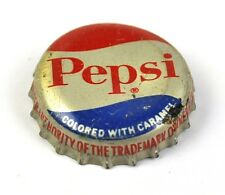 Vintage pepsi cola tapita estados unidos soda bottle cap corcho junta colored Caramel