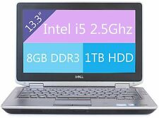 "Dell Latitude E6320 Laptop Win 10 i5 2.5Ghz 8GB RAM 1TB HD HDMI 13"" Webcam"