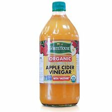 White House Organic Raw Unfiltered Apple Cider Vinegar with Mother, 32 fl oz