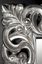 XXL Wandspiegel Spiegel Repro Barock Antik Rechteckig Replike180x90 A.Silber WOW
