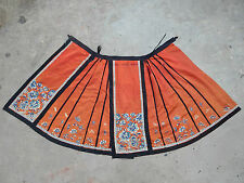 Antique Chinese Beautiful Hand Embroidered Skirt Circa 1800 (X98)