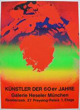 Otto Piene (1928-2014) Kunst 60er Jahre Orig Serigrafie Plakat Heseler 1970 Zero
