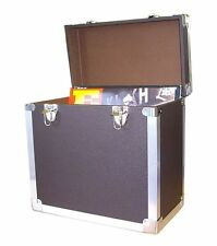 "Steepletone SRB-2 LP Vinyl Retro Record Storage Case Holds 50 12""LPs - BLACK"