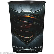BATMAN V SUPERMAN Dawn of Justice REUSABLE KEEPSAKE CUPS (2) ~Party Supplies