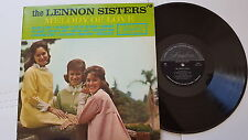 THE LENNON SISTERS - Melody of Love 1964 MONO POP Female Vocal (LP)