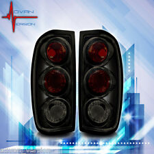 For 1998-2004 Nissan Frontier Tail Lights Black Smoke Lens Rear Lamps PAIR