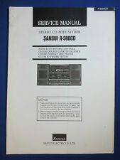 SANSUI R-5000CD SYSTEM TURNTABLE CASSETTE SERVICE MANUAL ORIGINAL FACTORY ISSUE