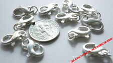 925 Solid Sterling Silver Boundless Lobster Claw Clasp Jumpring USA 7.8mm x 14mm