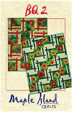 BQ 2 Quilt Pattern for Large Scale Quilting Fabrics DIY 4 sizes Maple Island