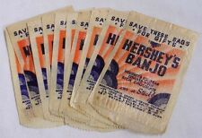 Vintage LOT TWELVE Hershey's Banjo Ice Cream Bar Cellophane Sleeves