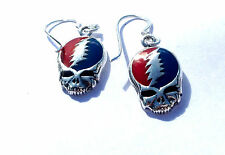 Grateful Dead Steal Your Face Earrings Sterling Silver Dead and Co Furthur Phish