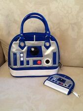 Rare Disney Parks Exclusive Star Wars Loungefly R2D2 Handbag & Matching Purse