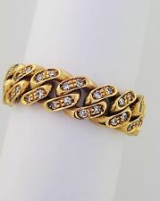 Pomellato 60 Diamond Cuban Chain Ring in 18k Yellow with Pouch