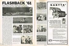 Vintage 1961 KARTING Review/ AD:ORIGINAL! Go Kart,SAETTA V-11,INTERNATIONAL,Cart