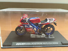 "DIE CAST "" DUCATI 998S BOSTROM REPLICA - 2002 "" SCALA 1/24"