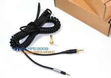 Headphones Coiled Spring DJ Cable For Sennheiser HD 598 595 518 558 Headsets