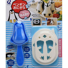 Cute Penguin Shaped Bento Rice Sandwich Kitchenware Sushi Mold Maker Cutter