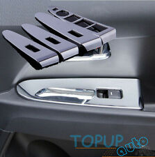 FIT FOR KIA SPORTAGE 10- CHROME INTERIOR DOOR WINDOW SWITCH PANEL COVER TRIM