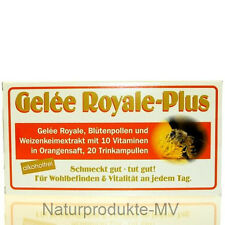 4 Pckg. 9,49EUR/100ml Gelee Royal Plus ohne Alkohol (4x20 Trinkampullen) Royale
