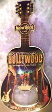 """Hard Rock Cafe HOLLYWOOD 2012 Guitar MAGNET Bottle Opener """"Love All Serve All"""""""