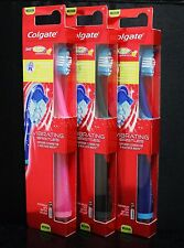 3x COLGATE 360 Total Advanced With VIBRATING BRISTLES Electric Toothbrush MEDIUM
