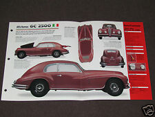 1939-1952 ALFA ROMEO 6C 2500 (1947) Car SPEC SHEET BROCHURE PHOTO BOOKLET