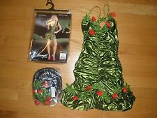NEW WOMENS SUPER SEXY 3PC GARDEN OF EVE GIRL HALLOWEEN COSTUME SIZE SMALL
