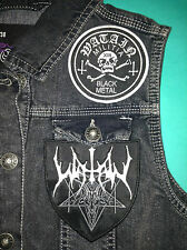 Watain Black Metal Militia Girls Denim Cut-Off Waistcoat Vest Jacket Wild Hunt