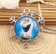 Hot FROZEN PENDANT Silver Plated CHAIN NECKLACE ROYAL PRINCESS Y8