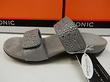 VIONIC W/ ORTHAHEEL TECHNOLOGY WOMENS SANDALS SAMOA PEWTER SIZE 6