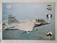 PLAQUETTE DOCUMENT 1 PAGE SAAB BRITISH AEROSPACE JAS 39 GRIPEN COMBAT AIRCRAFT