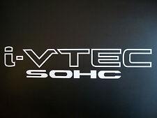 SOHC (WHITE) (2) i VTEC Vinyl decals stickers vinyl emblem Honda JDM Civic Si
