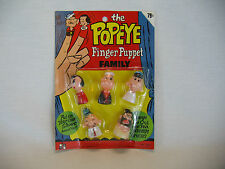 Vintage NOS Toy The Popeye Finger Puppet Family