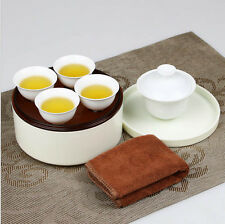 Tea Cup Sets Chinese Travel Gongfu White China Porcelain Teaset Teacup